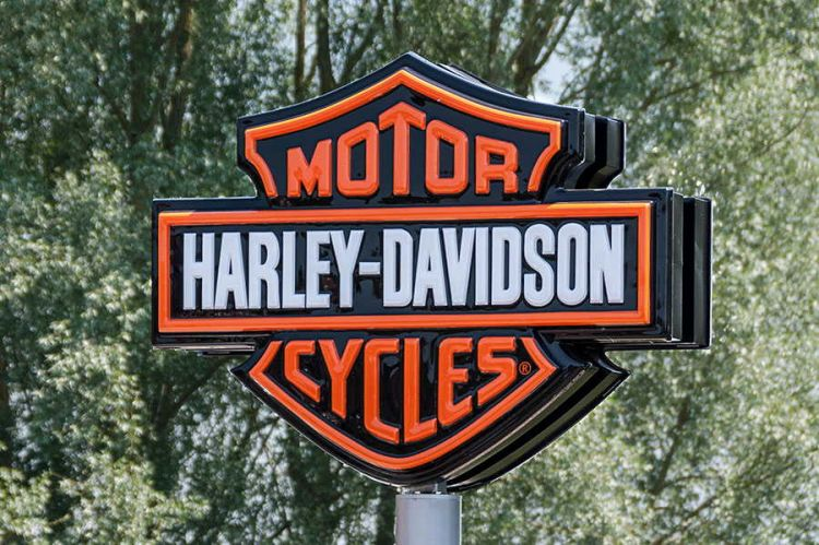 Harley Davidson Sign Post