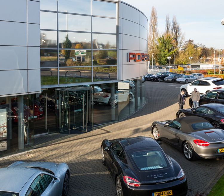 Porsche Tonbridge Outside Showroom