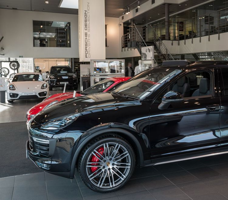 Porsche Tonbridge Inside Showroom