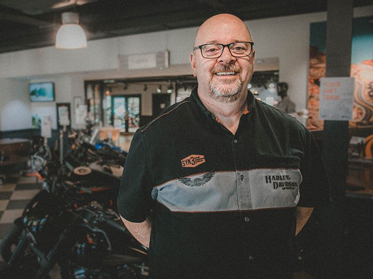 David Kennedy Dealer Principal Reading Harley Davidson